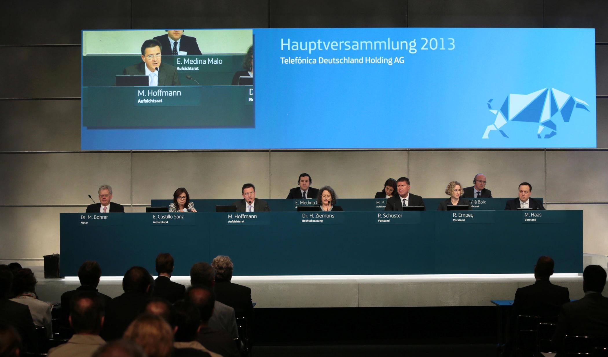 Hauptversammlung Telefonica Deutschland